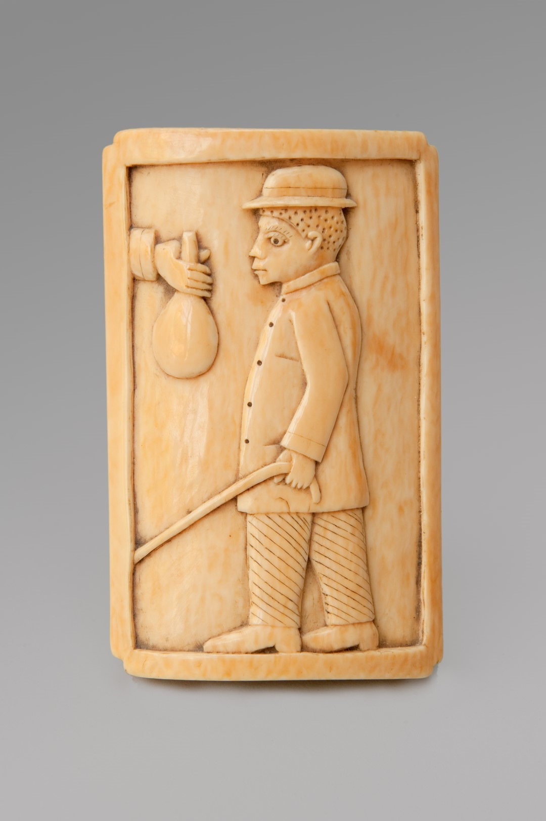 Image of 19th Century Carved Ivory Paperweight