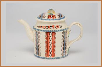 A Gorgeous 18th Century Cream-ware Teapot