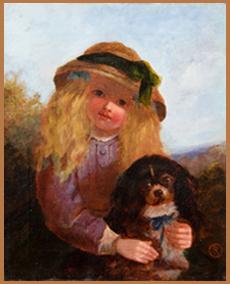 19th Century Oil Girl