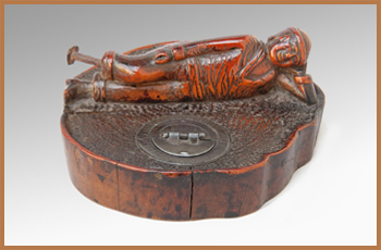 Cherry-Wood Inkwell