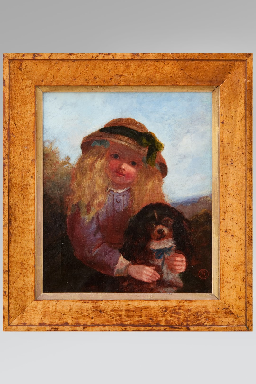 Image of Girl with a King Charles Spaniel