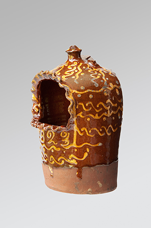 Image of Sussex Pottery <br>A Slipware Salt Kit initialed P.O dated 1823