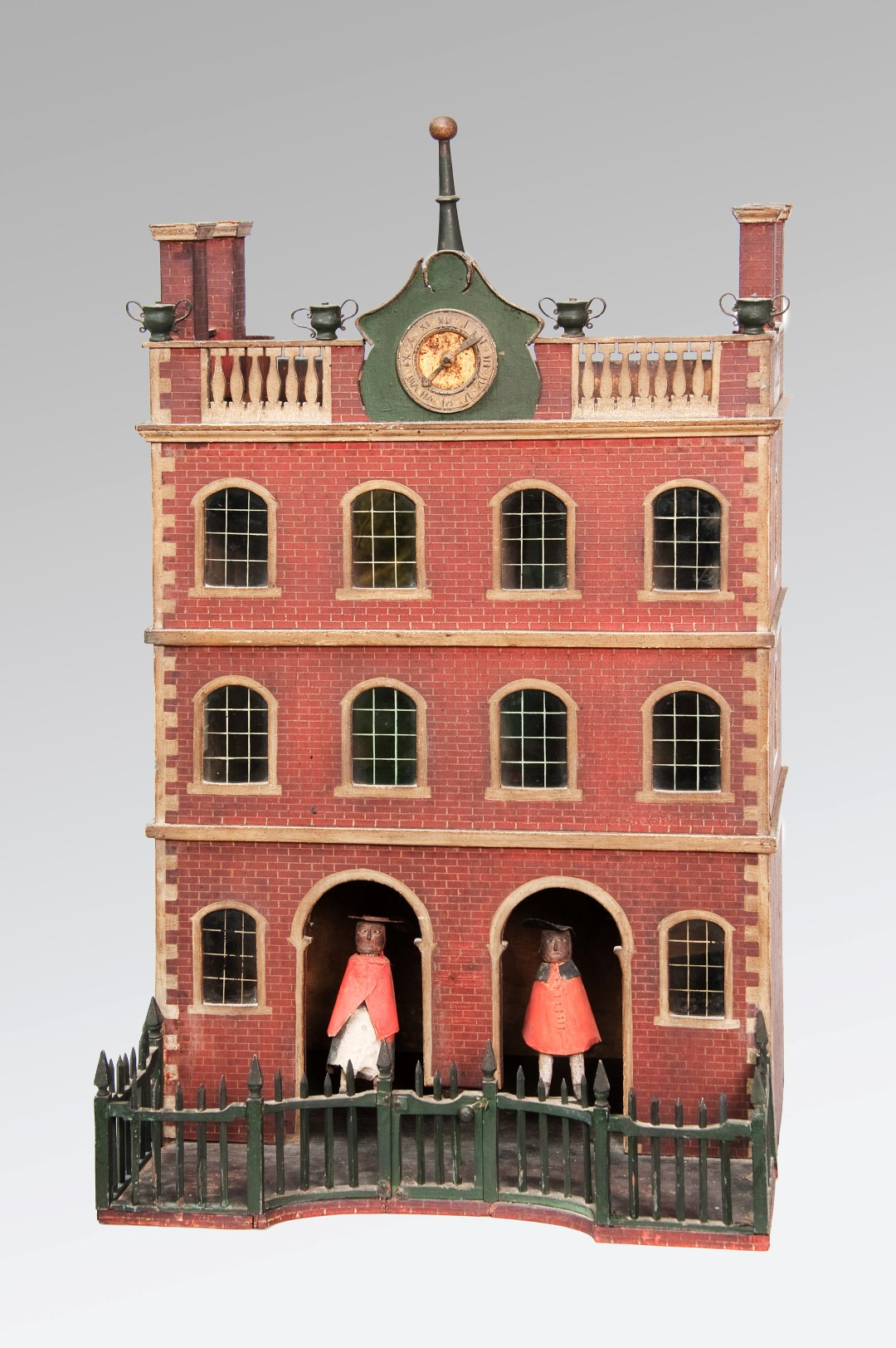 Image of An Important Painted Federal Period Architectural Weather-House