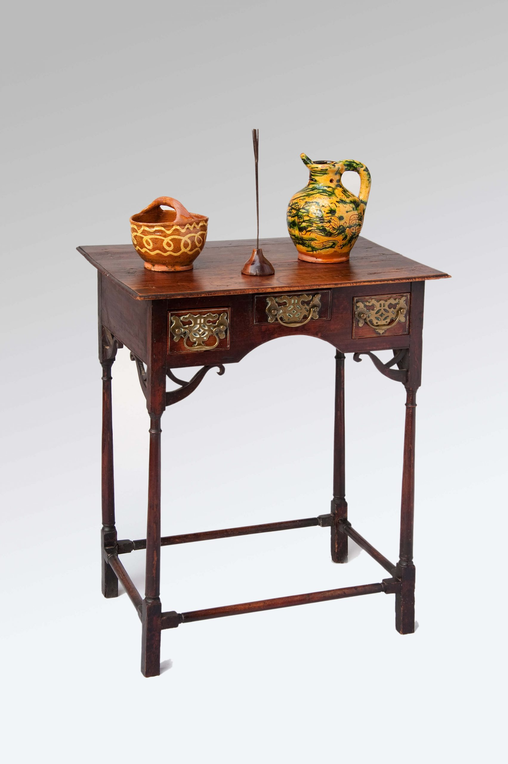 """Image of A Very Pretty 18th Century Fruitwood Spider-leg Side Table only 22"""" Wide"""