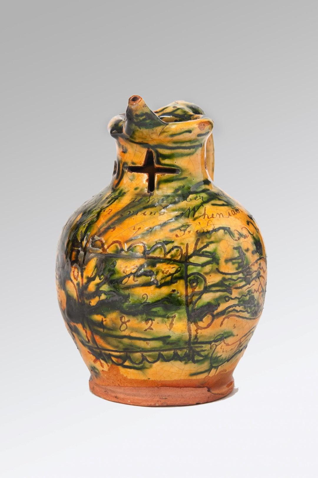 Image of An Exquisite Documentary Donyatt  Puzzle-jug, Dated 1827