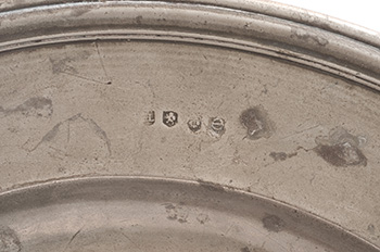 Image of A Large Late 17th Century Pewter Charger