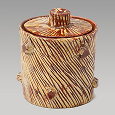 Slipware Honey Pot