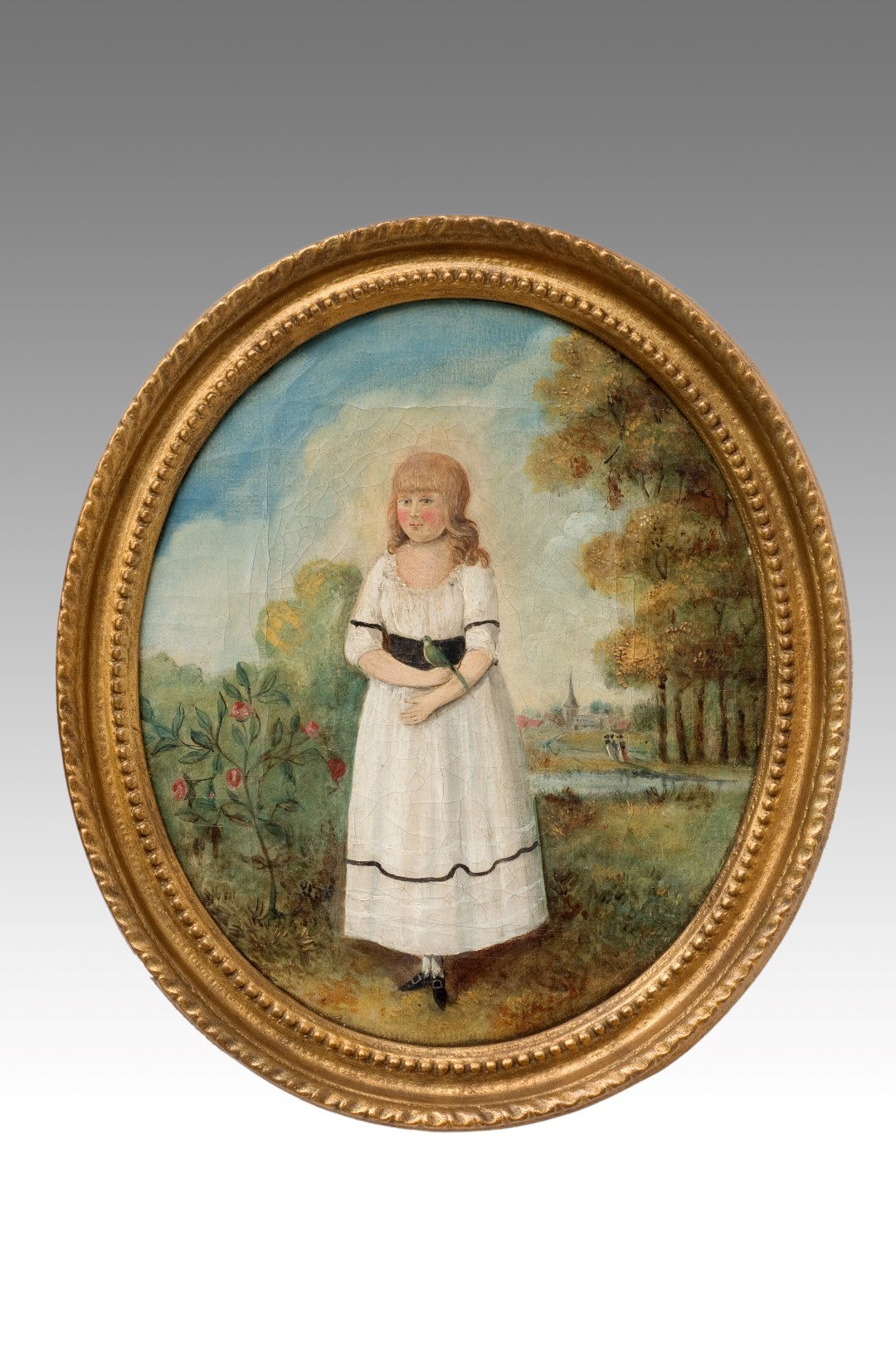 Image of A Charming Pair of 18th Century Brother & Sister Portraits in Oil