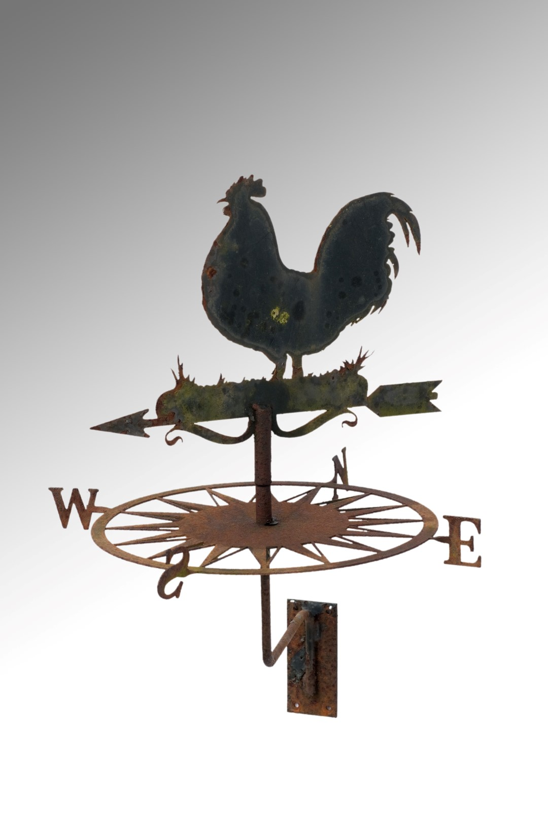 Image of A Late Cockerel Wall Mounting Weather-Vane