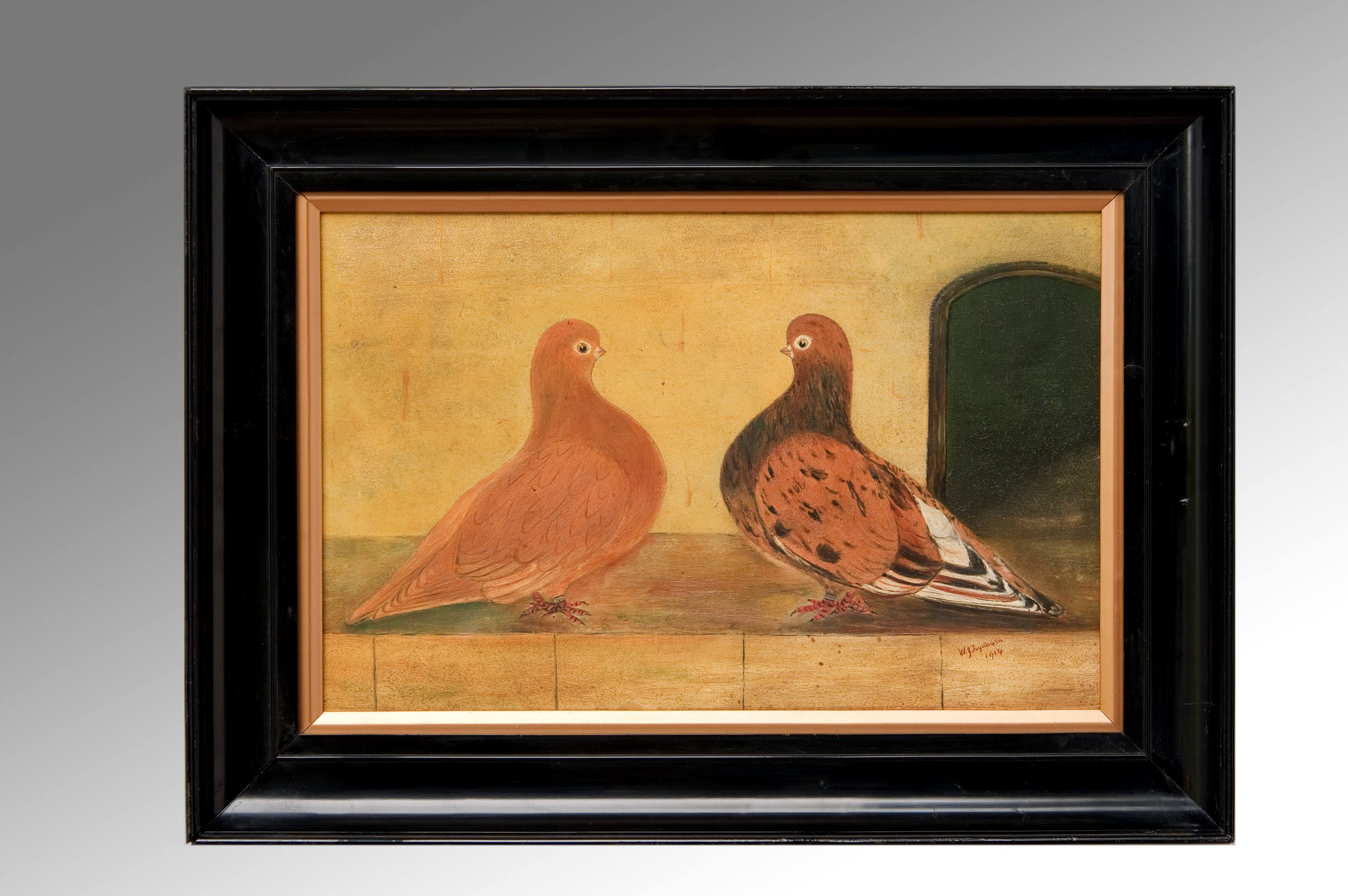 Image of A Pair of Prize Pigeons By W.J.Lynham