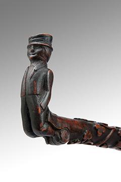 Image of A Carved 19th Century Irish Walking Stick