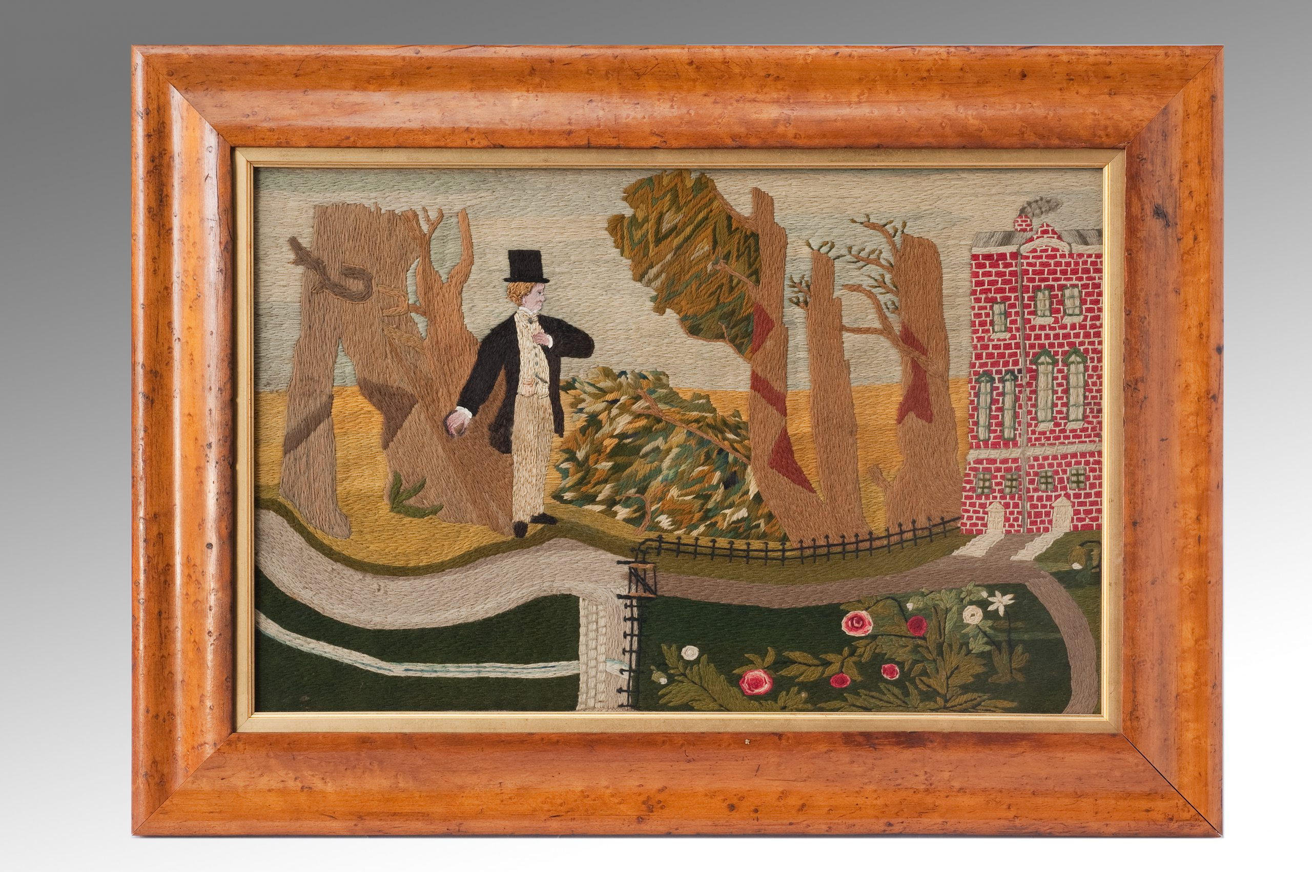 Image of An Unusual 19th Century Woolwork Picture