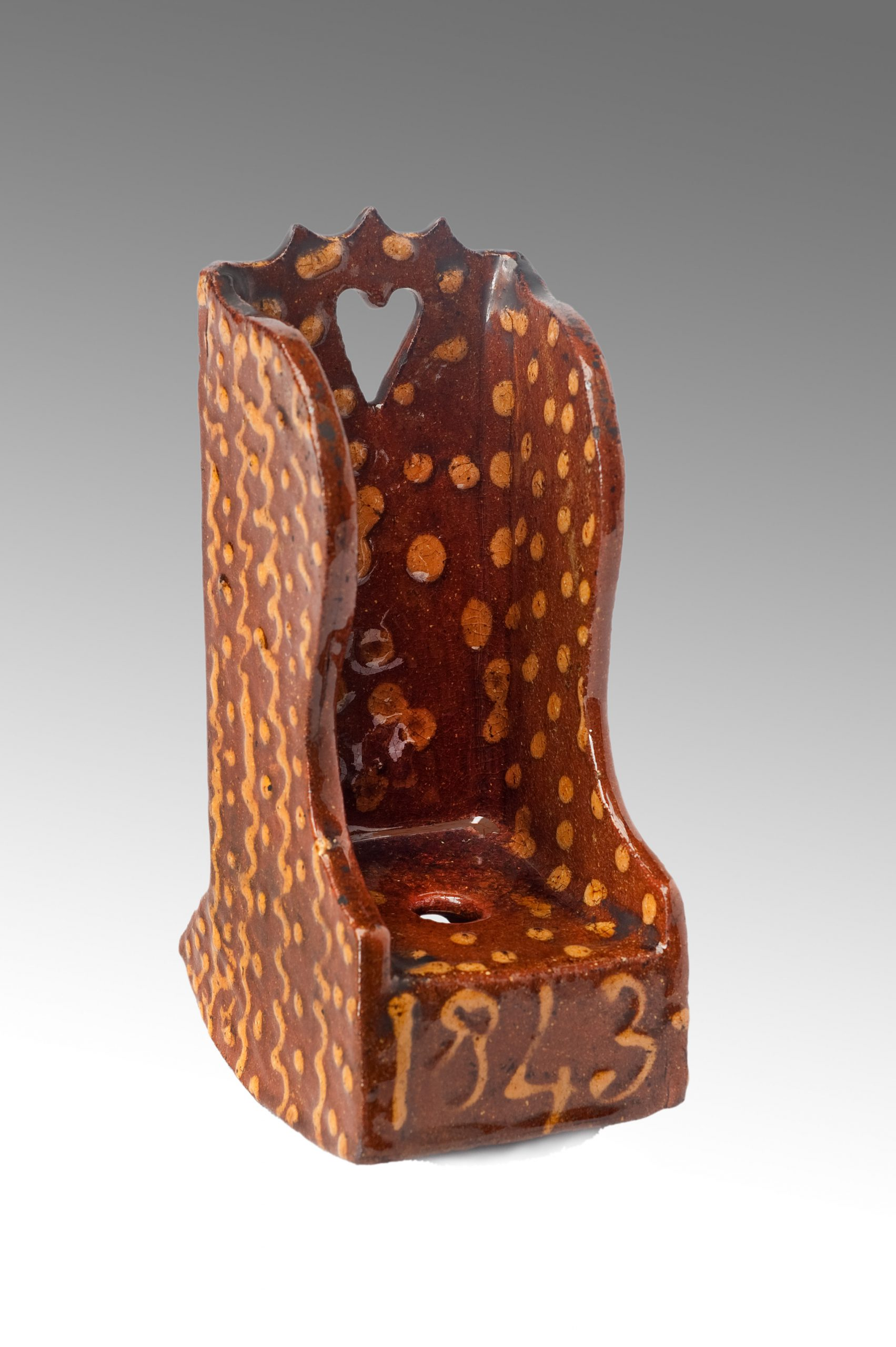 Image of A Superb Slip-ware Rocking Chair in completely untouched condition
