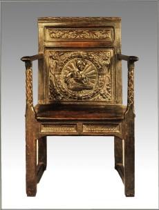 A Tudor Oak Armchair