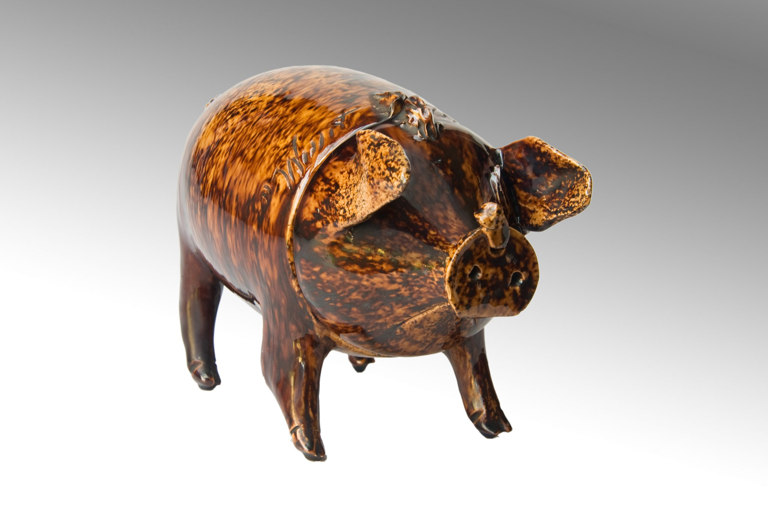 Image of Sussex Pottery <br>A Sussex Pig from the Belle-Vue Pottery Rye