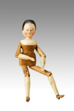 Grodner Tal Painted Wooden Peg-Doll