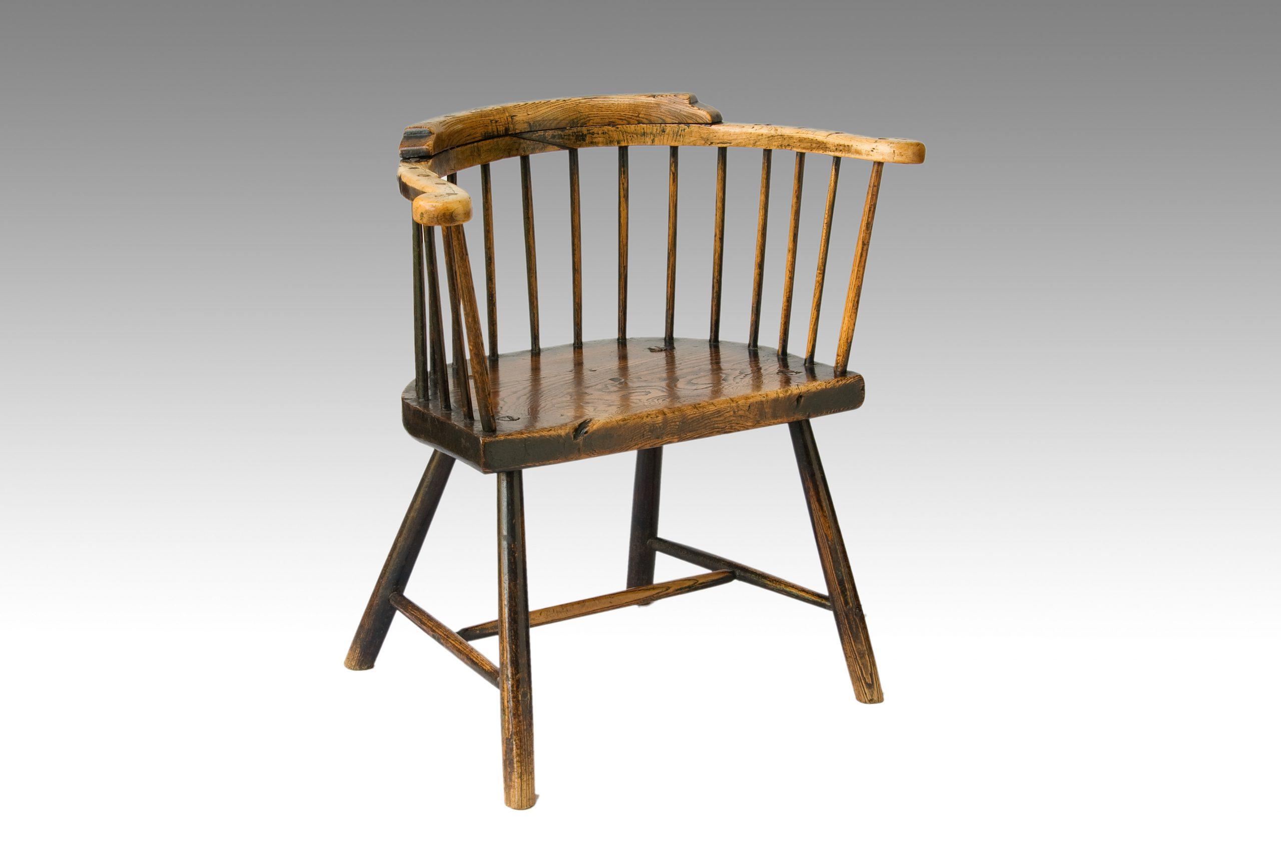 Image of Primitive Low-back Windsor Armchair