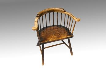 Primitive Low-back Windsor Armchair