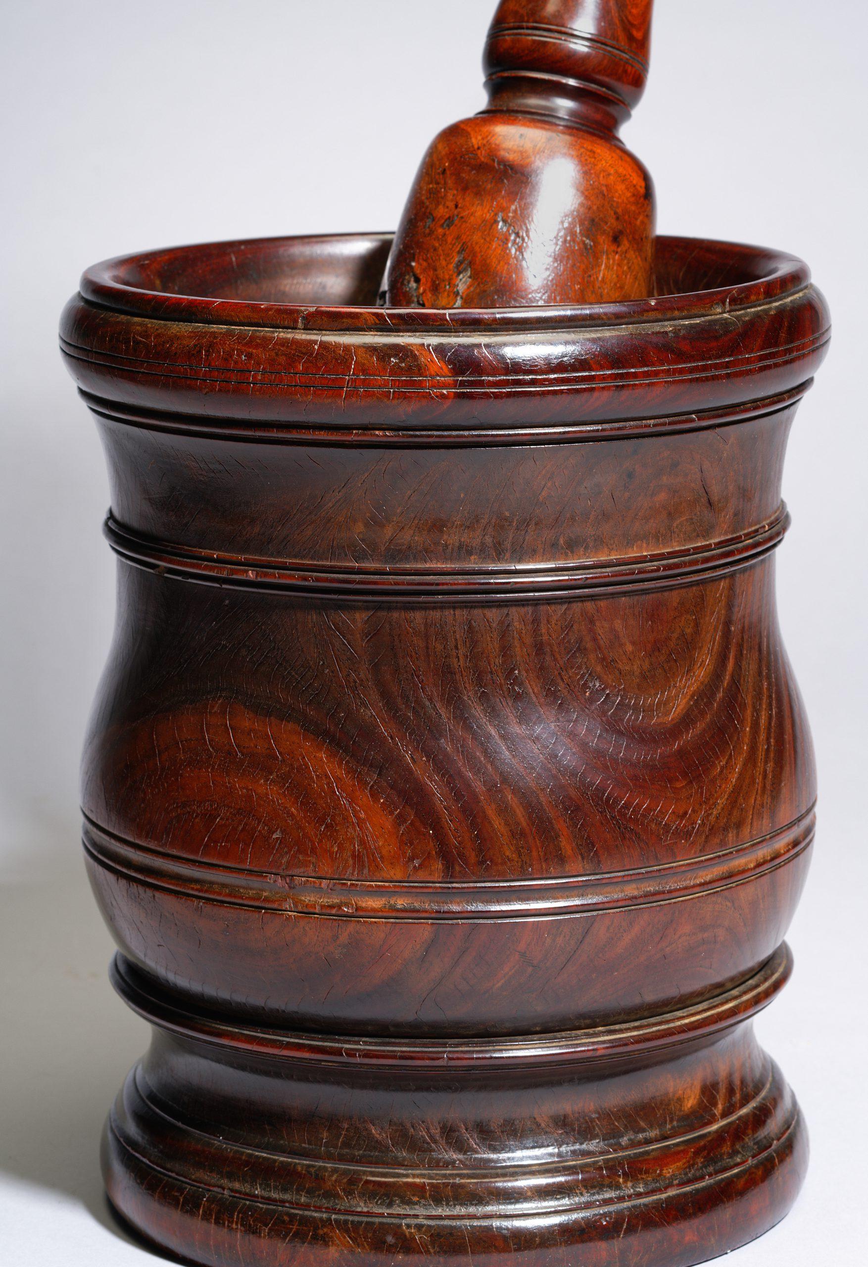 Image of A William & Mary Lignum Vitae Mortar & Pestle