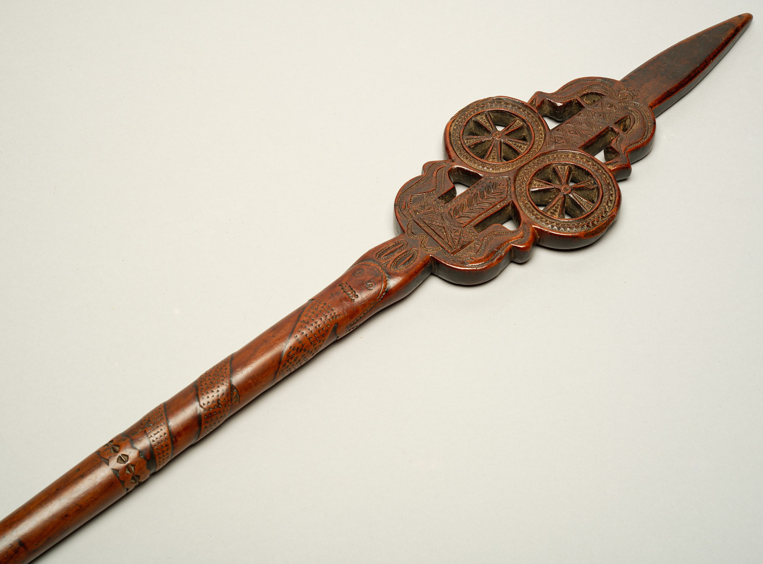 Image of A Chip-Carved Fruitwood Distaff