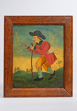 'Old Soldier' (A Georgian Panel Painting)