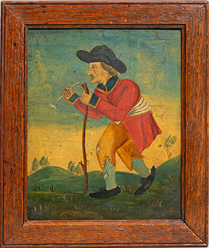 Old Soldier - A Georgian Panel Painting sml