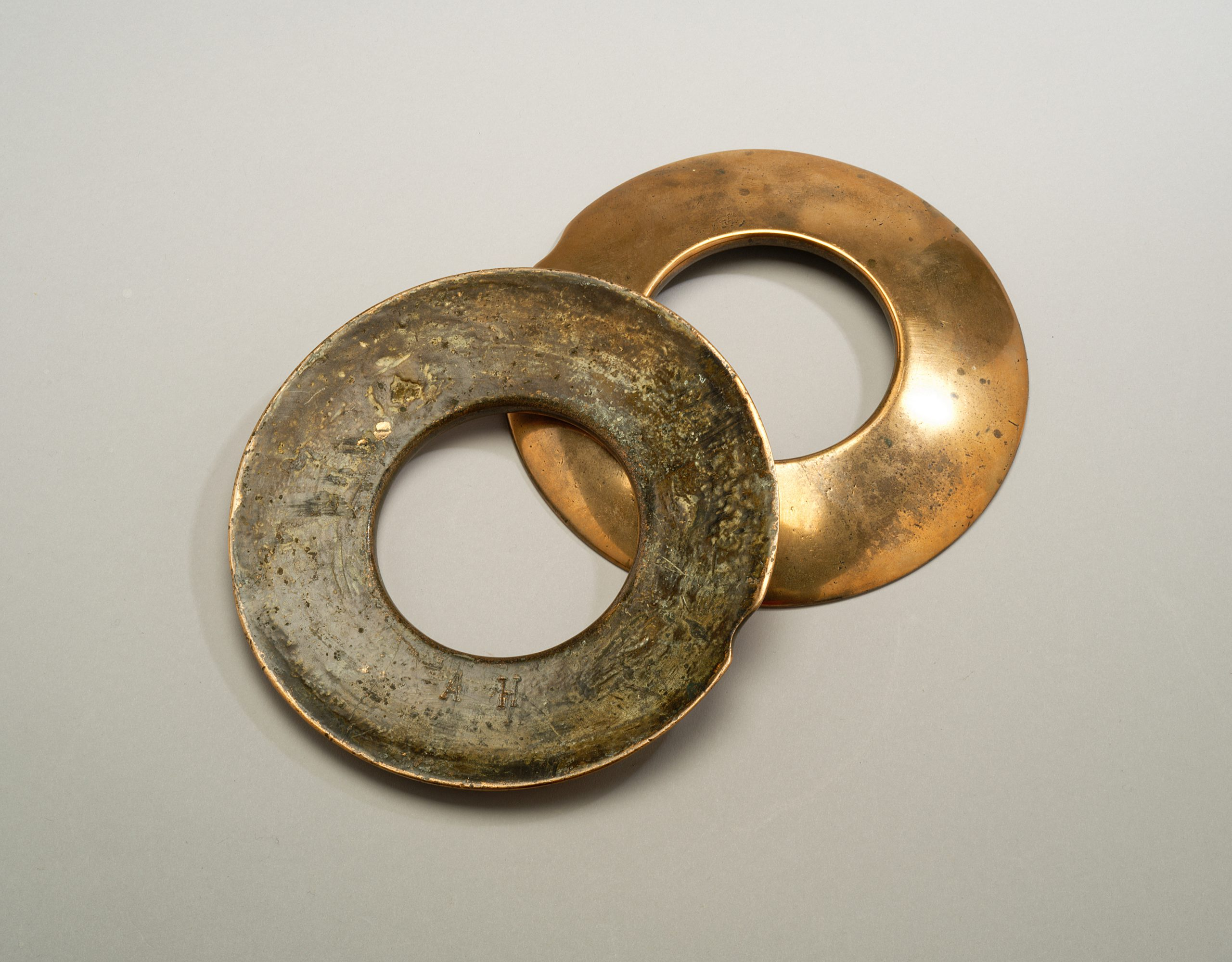 Image of A Pair of Bronze Pub Quoits