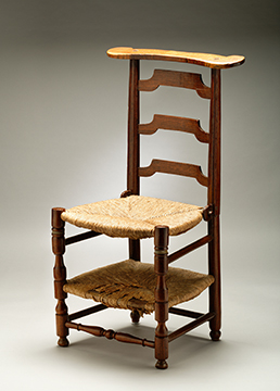 A Red Mulberry Prie-Dieu Child's Chair
