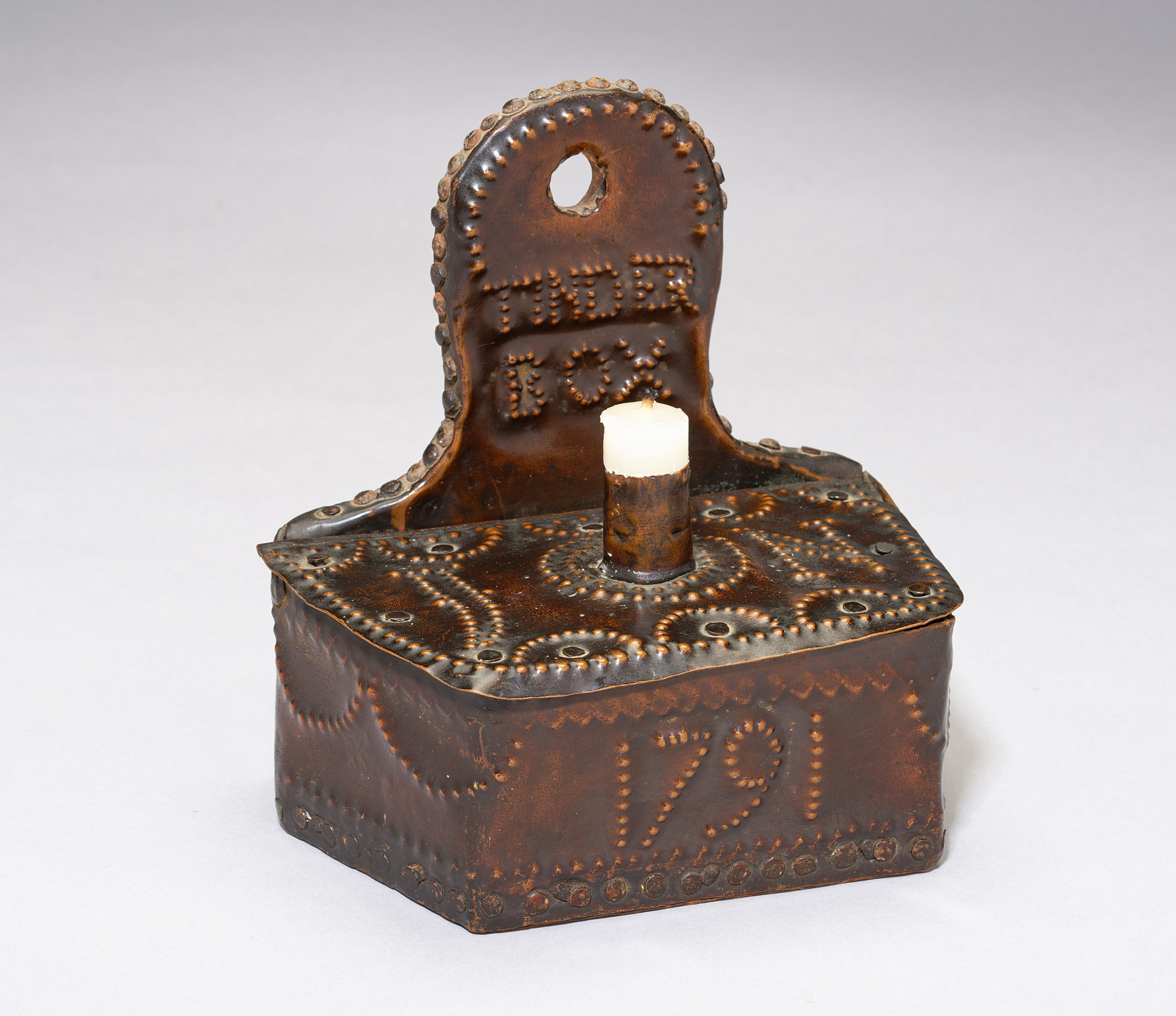 Image of An 18th Century Documentary Repoussé Decorated 'Tinder Box.'