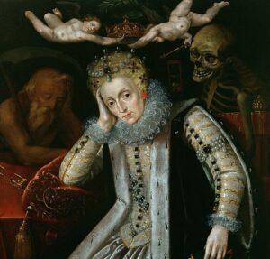 Sonnet 133 - 'Elizabeth' ensnared by 'Time & Death'