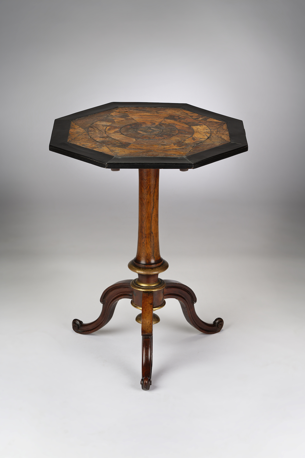 Image of A Small Jamaican Parcel-gilt Tripod Table