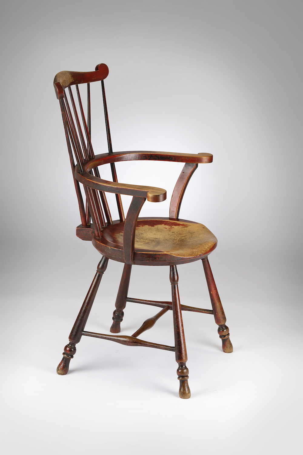Image of A Painted Windsor Chair of the Goldsmith Type